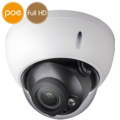 Telecamera dome IP PoE - Full HD (1080p) - Varifocale 2.7-12mm - microSD - IR 30m
