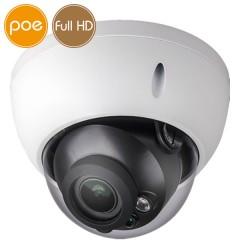 Telecamera dome IP PoE - Full HD (1080p) - Ottica motorizzata 2.7-13.5mm - microSD - IR 30m