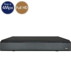 Videoregistratore HD ibrido - DVR 32 canali 4 Megapixel - RAID ALLARMI HDMI