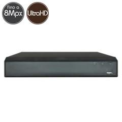 Videoregistratore HD ibrido - DVR 16 canali 8 Megapixel Ultra HD 4K - RAID VGA HDMI