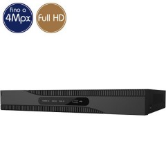 Videoregistratore HD ibrido SAFIRE - DVR 16 canali 4 Megapixel - ALLARMI HDMI Ultra HD 4K