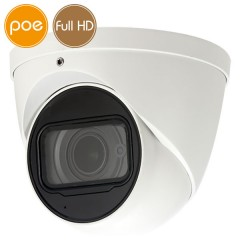 Telecamera dome IP PoE - Full HD - SONY Ultra Low Light - motorizzata 2.7-13.5mm - IR 50m
