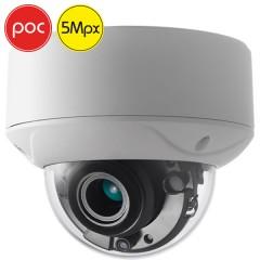 Telecamera dome HDTVI PoC SAFIRE - 5 Megapixel - Ottica motorizzata 2.8-12mm - IR 40m