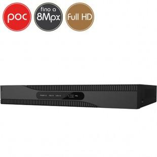 Videoregistratore HD ibrido PoC SAFIRE - DVR 8 canali 8 Megapixel Ultra HD 4K - ALLARMI