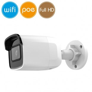 Telecamera wireless IP WiFi PoE - 2 Megapixel / Full HD (1080p) - microSD - IR 30m