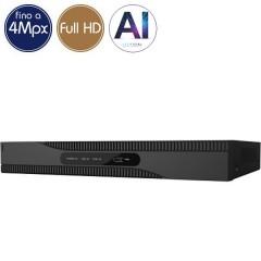 Videoregistratore HD ibrido SAFIRE - DVR 16 canali 4 Megapixel - Intelligenza Artificiale