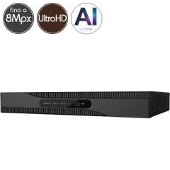 Videoregistratore HD ibrido SAFIRE - DVR 8 canali Ultra HD 4K - Intelligenza Artificiale