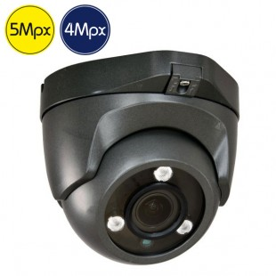 Telecamera HD dome - 5 e 4 Megapixel - Verifocale 2.7-13.5mm - IR 40m