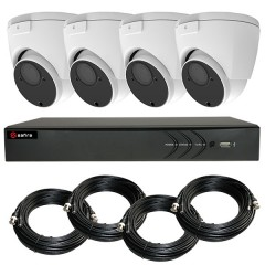 KIT videosurveillance HD 1080p - Full HD - DVR 4 channels - 4 dome cameras