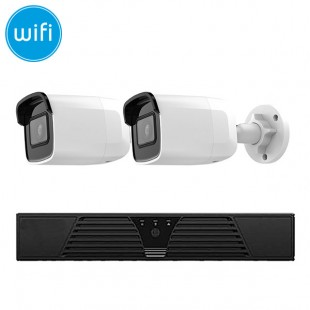KIT Wireless videosurveillance IP - NVR 4 channels - 2 cameras IP WiFi Megapixel