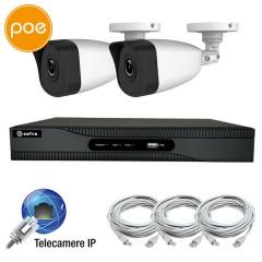 KIT IP videosurveillance - NVR PoE 4 channels - 2 IP cameras 3 Megapixel