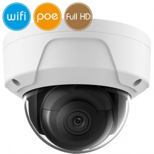 Telecamera dome wireless IP WiFi PoE - 2 Megapixel / Full HD (1080p) - microSD - IR 30m