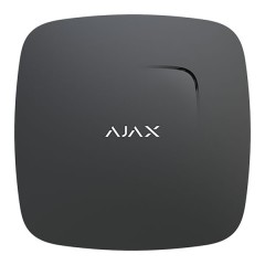Rilevatore antincendio fumo e calore wireless Ajax nero