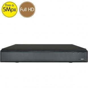 Videoregistratore HD ibrido - DVR 8 canali 5 Megapixel - ALLARMI VGA HDMI