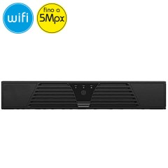 Videoregistratore IP NVR WiFi Wireless SAFIRE 8 telecamere - 5 Megapixel / Full HD