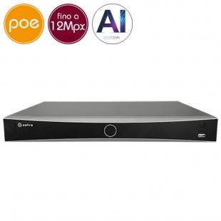 Videoregistratore IP NVR PoE SAFIRE 16 - 12 Megapixel - Intelligenza Artificiale  - ALLARMI