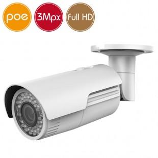Camera IP SAFIRE PoE - 3 Megapixel - Motorized zoom 2.8-12mm - IR 30m