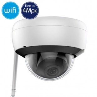 Dome camera wireless IP WiFi - 4 Megapixel - microSD - Mic - IR 30m