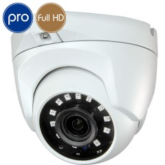 Dome HD camera - Full HD - 1080p - 2 Megapixel - Lens 2.1mm Wide - IR 30m