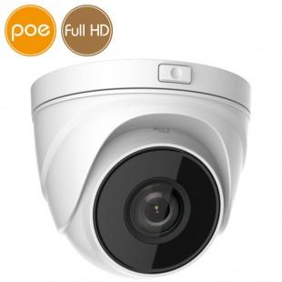 Telecamera dome IP SAFIRE PoE - Full HD (1080p) - motorizzata 2.8-12mm - SD - IR 30m