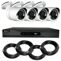 KIT videosurveillance HD 4 Megapixel - DVR 4 channels - 4 cameras