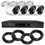 KIT videosurveillance HD 4 Megapixel - DVR 4 channels - 4 cameras