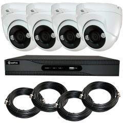 KIT videosorveglianza HD 4 Megapixel - DVR 4 canali - 4 telecamere dome