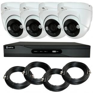 KIT videosurveillance HD 4 Megapixel - DVR 4 channels - 4 dome cameras