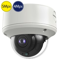 Telecamera dome HD SAFIRE - 5 e 4 Megapixel - Ultra Low Light - motorizzata 2.7-13.5mm - IR 60m
