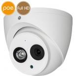 Telecamera dome IP PoE - Full HD (1080p) - Microfono - IR 20m