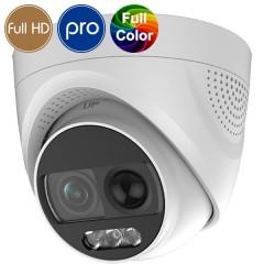 Telecamera dome HD SAFIRE  a colori di notte - Full HD - deterrente attivo - LED 20m