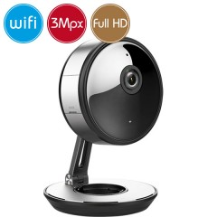 Camera wireless IP WiFi - 3 Megapixel / Full HD (1080p) - Mic - IR 10m