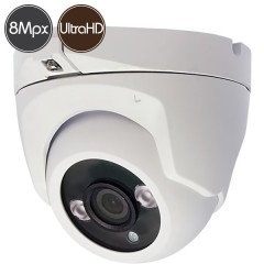 HD dome camera - 8 Megapixel Ultra HD 4K - SONY Ultra Low Light - IR 30m
