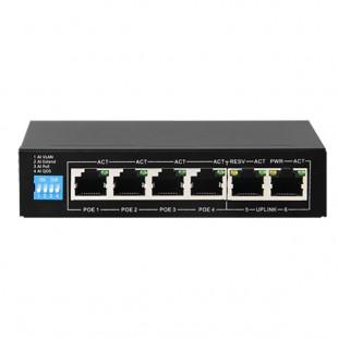 Switch 6 ports 10/100Mbps - 4 ports PoE