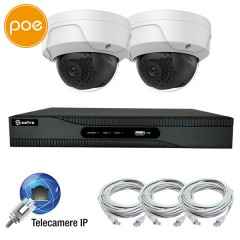 KIT IP videosurveillance - NVR PoE 4 channels - 2 IP cameras 2 Megapixel