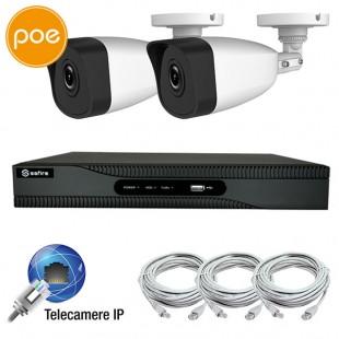 KIT IP videosurveillance - NVR PoE 4 channels - 2 IP cameras 2 Megapixel