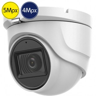 Telecamera dome HD SAFIRE - 5 e 4 Megapixel - Microfono - IR 30m