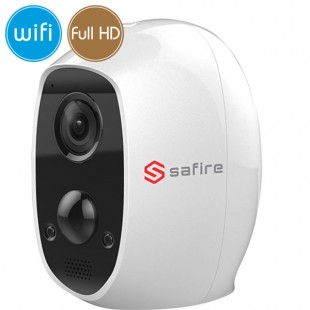 Camera wireless IP WiFi battery - Full HD (1080p) - Mic - Real PIR - IR 7m