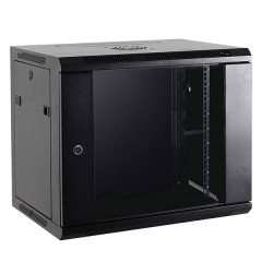 "Cabinet 19"" for Electronic Equipment Rack 6U black - Full optional"