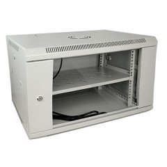 "Cabinet 19"" for Electronic Equipment Rack 6U grey - Full optional"