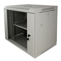 "Armadio Rack 9U Cabinet 19"" completo grigio - Full optional"