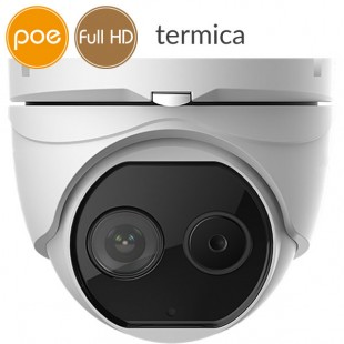 Telecamera dome termica Dual IP SAFIRE - Full HD (1080p) - Lente 6mm - audio - allarmi