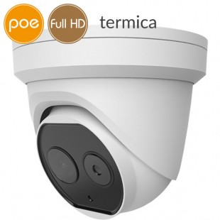 Telecamera dome termica Dual IP SAFIRE - Full HD (1080p) - Lente 2mm - audio - allarmi
