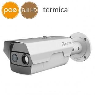 IP dual thermal camera PoE - Full HD (1080p) - lens 7mm alarms audio