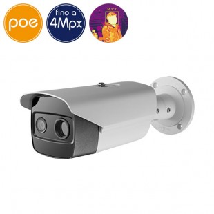 Telecamera termografica IP SAFIRE temperatura corporea - 4 Megapixel - Lente 15mm