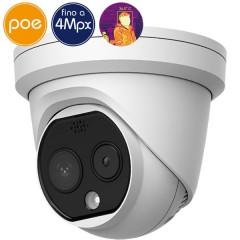 Telecamera dome termografica IP SAFIRE temperatura corporea - 4 Megapixel - Lente 6mm