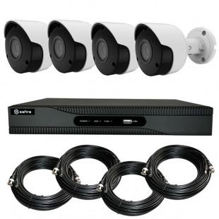 KIT videosorveglianza HD 4 Megapixel - DVR 4 canali - 4 telecamere