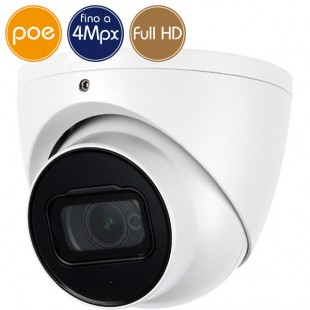 Camera dome IP PoE - 4 Megapixel / Full HD - Motorized 2.7-13.5mm - IR 40m
