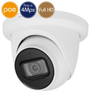 Telecamera dome IP PoE - 4 Megapixel / Full HD (1080p) - microSD - IR 50m