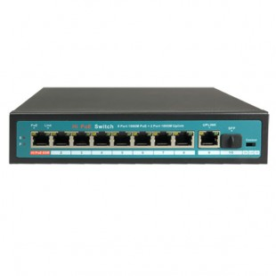 Switch 10 porte 1Gbps - 8 porte PoE